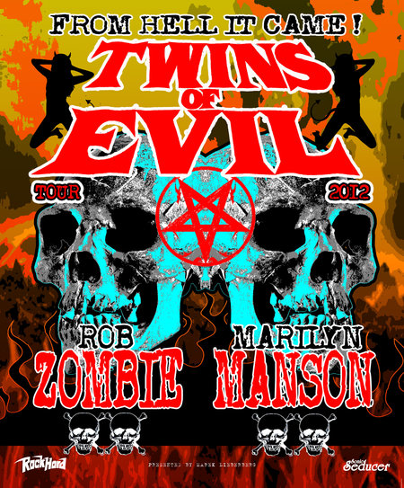 Rob Zombie & Marilyn Manson: Twins Of Evil Tour 2012