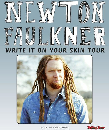 Newton Faulkner: Write It On Your Skin Tour 2013