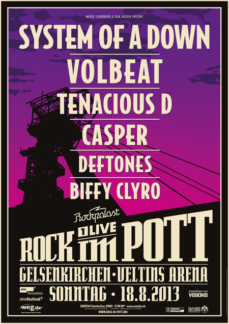 Rock im Pott - System Of A Down, Volbeat, Tenacious D. u.a. - 2013